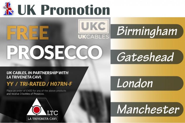 PROMOTION LTC – UK CABLES: ELEKTRISCHE KABEL UND PROSECCO