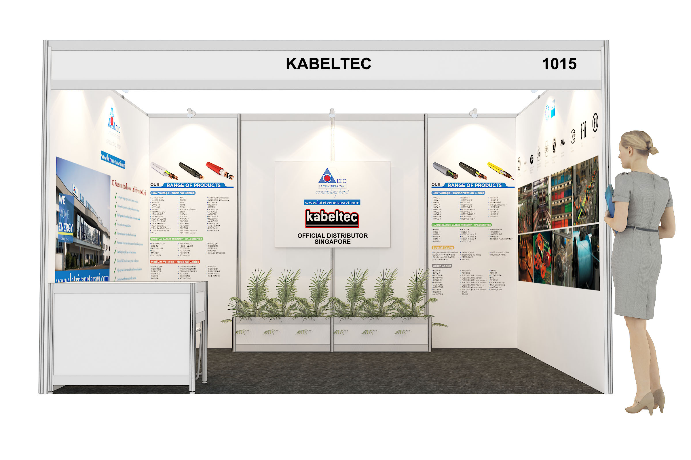 Stand Kabeltec fiera EPRE 2017 in Malesia