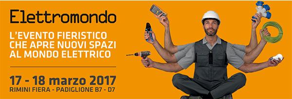 banner fiera Elettromondo 2017 Rimini 17 e 18 marzo