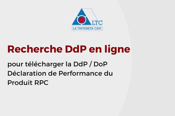 Recherche DdP en ligne pour télécharger la DoP | Déclaration de Performance du Produit RPC