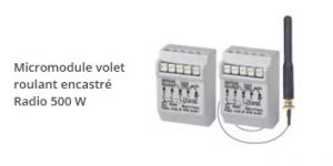 micromodule volet roulant encastré radio 500 w