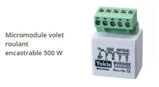 micromodule volet roulant encastrable 500 w