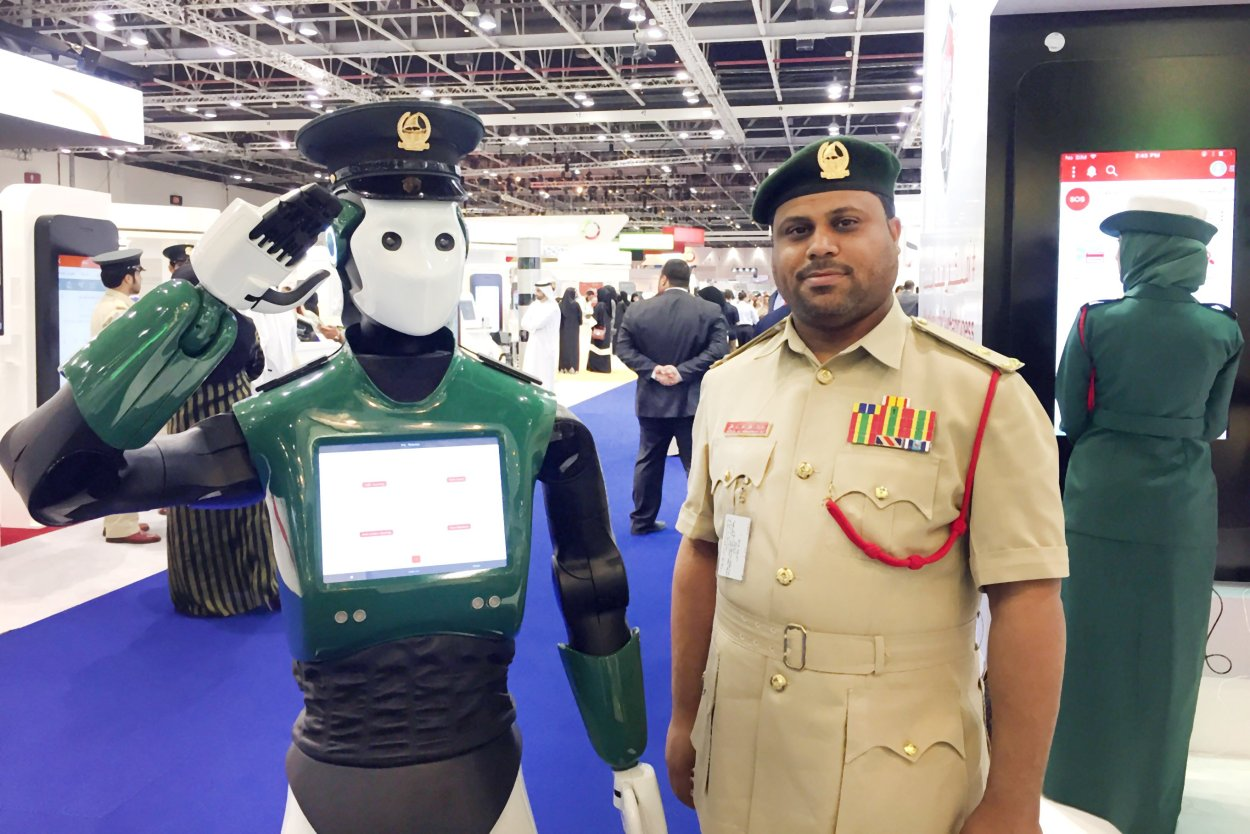 Robot and policeman
