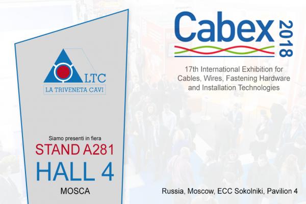 La Triveneta Cavi partecipa a Cabex | Mosca 20-21-22 marzo 2018
