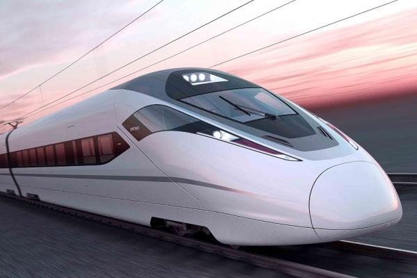 Magnetic levitation trains that use normal rails