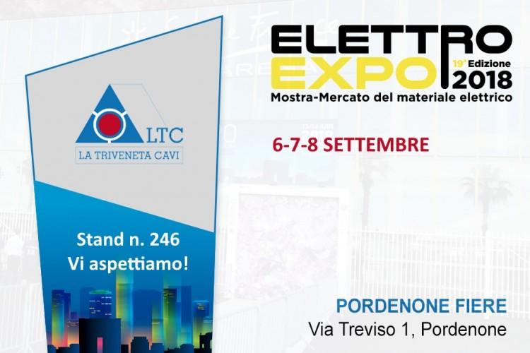 La Triveneta Cavi will take part at Elettroexpo | Pordenone, 6-8th September 2018