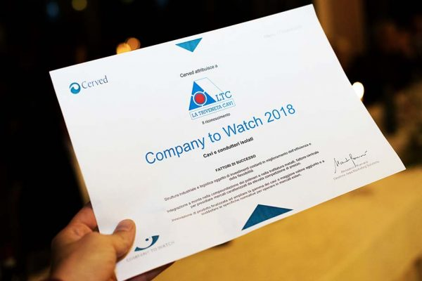 "La Triveneta Cavi ""Company to Watch 2018"""