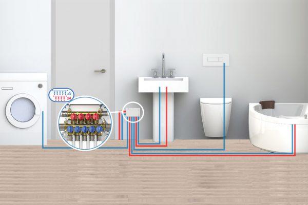 Wie man eine elektrische Anlage in einem Badezimmer oder in einem feuchten Raum planen kann