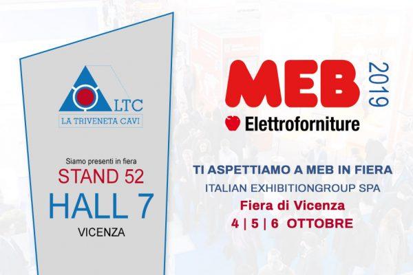 La Triveneta Cavi a MEB IN FIERA|VICENZA 4/5/6 Ottobre 2019